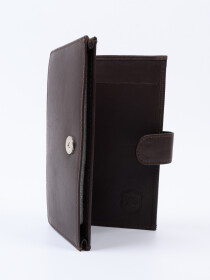 Executive Leather Double Mobile Wallet Brown
