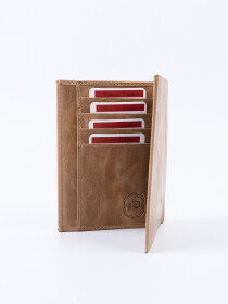 Executive Leather Passport Holder Ivory