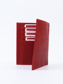Executive Leather Passport Holder Red