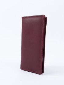 Executive Leather Long Wallet Burgundy