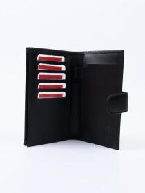 Executive Leather Single Mobile Wallet Black