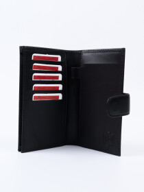 Executive Leather Single Mobile Wallet Black