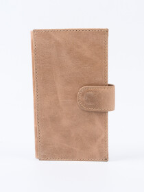 Executive Leather Single Mobile Wallet Ivory