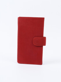 Executive Leather Single Mobile Wallet Red