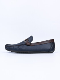 Emmos Men Blue Perforated Calarino Loafers
