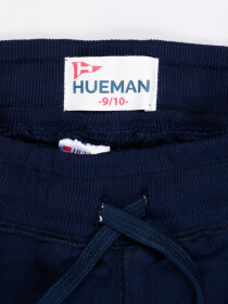 Big Boys Navy Blue Terry Slim Joggers