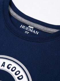 Big Boys Navy Blue Full Sleeves T-Shirt