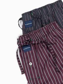 Maroon LiningLightweight Modern LuxuryPajama Pack of Two