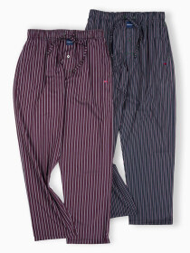 Pack of 2 Maroon/Black Sleeping Pajamas