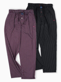 Pack of 2 Maroon/Black Relaxed Pajamas