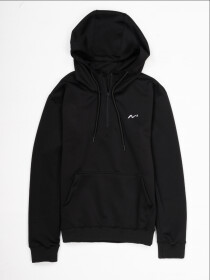 Men's Black Sporty Quarter-Zip hooded Sweatshirt