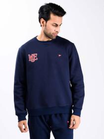 Navy Blue Fleece Men 's Sweatshirt