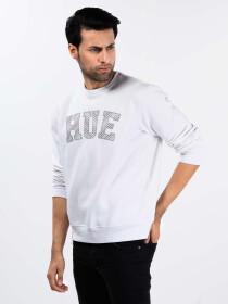 White Fleece Men's Sweatshirt