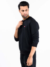 Black Terry Men's Sweatshirt
