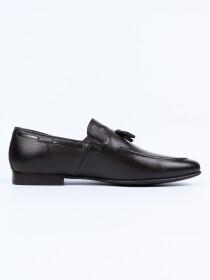 Men Dark Brown Troy Fashion Slip-ons