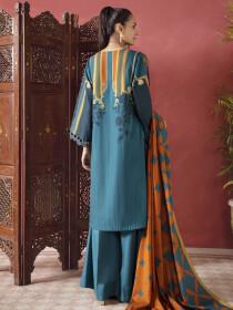 Zinc Printed Slub Khaddar Unstitched 2Piece Suit for Women