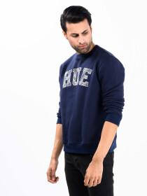Navy Blue Fleece Men's Sweatshirt