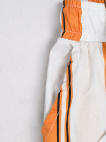 Girls' Relaxed Woven Trousers Orange & White
