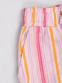 Girls' Relaxed Woven Trousers Pink