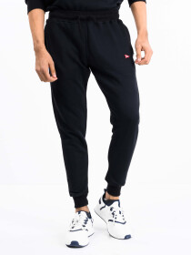 Men Black Terry Slim Joggers