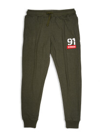 Men Terry Slim Joggers / Trainer Trouser Olive
