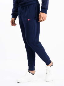 Men Navy Blue Terry Slim Joggers