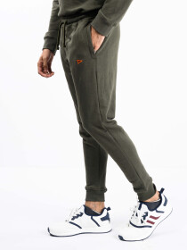 Men Olive Terry Slim Joggers