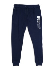 Men Terry Slim Joggers / Trainer Trouser Navy Blue
