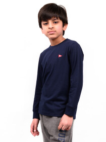 Little Boy Navy Blue Terry Sweatshirt