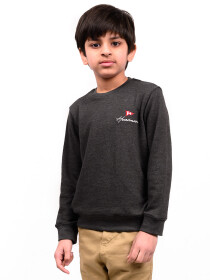 Little Boy Dark Grey Terry Sweatshirt
