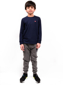 Big Boy Navy Blue Terry Sweatshirt