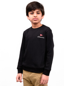 Big Boy Black Terry Sweatshirt