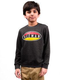 Little Boy Charcoal Terry Sweatshirt