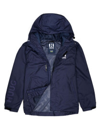 Men Windbreaker Mid Length Jacket with Mesh lining Blue