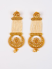 Antique Gold Plated Jhumki Earring for Women