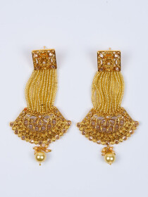 Pearl Stunning Gold Plated Earring For Women