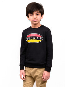 Little Boy Black Terry Sweatshirt