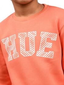 Little Boy Orange Fleece Sweatshirt