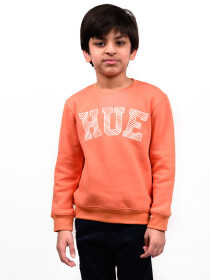 Little Boy Orange Fleece Sweatshirt