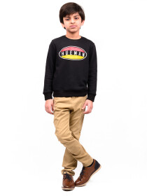 Big Boy Black Terry Sweatshirt