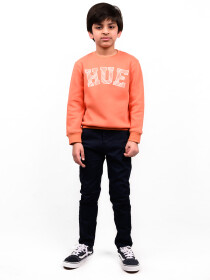 Big Boy Tangerine orange Fleece Sweatshirt