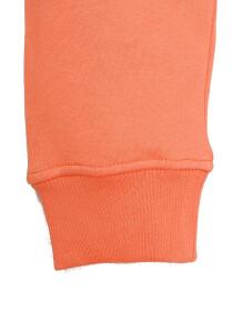 Men Orange Fleece Hooded Sweatshirt