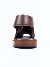 Completely Hand-crafted Brown Peshawari Chappal