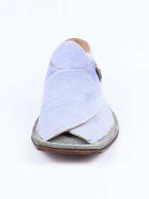 Hand-crafted Mint BluePeshawariChappal