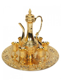 Kawa Drink Set Fancy Golden
