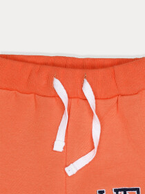 Little Boys Orange Fleece Slim Joggers