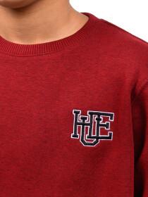 Little Boy Burgundy Fleece Sweatshirt