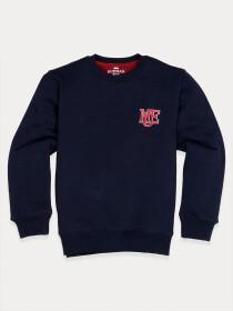 Little Boy Navy Blue Fleece Sweatshirt