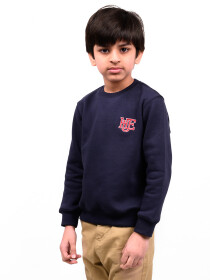 Big Boy Navy Blue Fleece Sweatshirt