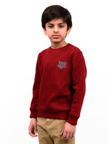 Big Boy Burgundy Fleece Sweatshirt